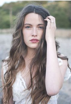 Lovely long hair with natural waves. Summer Hairdo. Simple and comfortable.