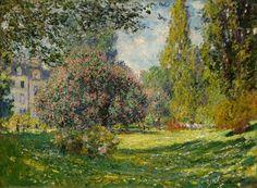 Parc Monceau Poster Claude Monet