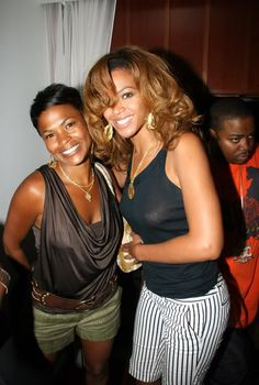 #Beyonce and actress Nia Long. #Beautiful #Women
