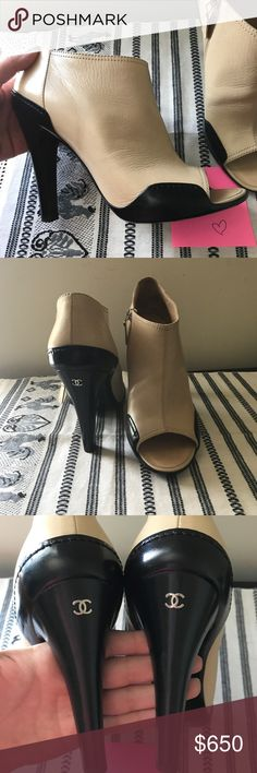 Chanel Worn only inside of my house couple times. Like new condition. No box. I can find dust bag from my other chanel shoes. CHANEL Shoes Ankle Boots & Booties