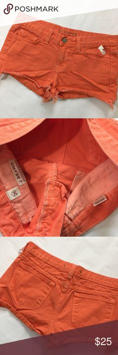 NWT J Brand Cutoff Short Size 26 Tangerine New not worn distressed look, cutoff style. Smoke free home. Offers welcome. Fast shipping. J Brand Shorts Jean Shorts