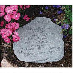 Our Family Chain: Cast Stone Memorial Garden Marker