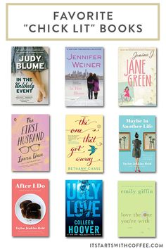 sharing my favorite chick lit books which are great as gifts or for travel or just for fun personal reading when you need something a little more fun Book Club Books, Book Nerd, Book Lists, The Book, Good Books, Books To Read, My Books, Music Books, Book Suggestions
