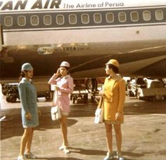 Iran Air stylish flight attendents in 1970s