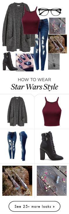 """Untitled #1214"" by lonelywhovian on Polyvore featuring H&M, EyeBuyDirect.com and Schutz"