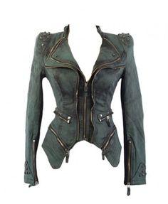 Denim Jacket in Boyfriend Fit with Studs Sleeves Details