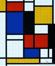 Mondrian + Lego