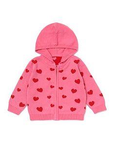 Heart Knit Baby Jacket