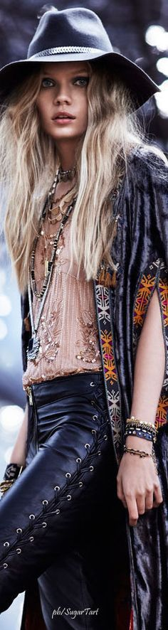 Boho  Would love a closer look at that top.  Beautiful