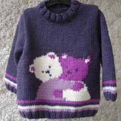 Ideas Crochet Dress Baby Teddy Bears For 2019 Baby Knitting Patterns, Baby Sweater Patterns, Baby Cardigan Knitting Pattern, Knitting For Kids, Knitting Designs, Baby Patterns, Baby Teddy Bear, Knitted Teddy Bear, Teddy Bears