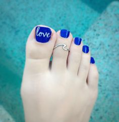 Blue Toe Nails, Acrylic Toe Nails, Midi Rings, Toe Rings, Toe Ring Tattoos, Piercing, Dipped Nails, Gorgeous Feet, Sexy Toes