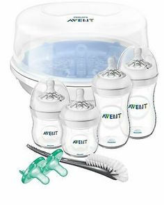 Tommee Tippee Closer To Nature Complete Feeding Set Cool Blue│quick Steriliser To Prevent And Cure Diseases Feeding