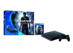 Buy Sony PlayStation 4 Slim Console Uncharted 4 A Thief's End Game Bundle at online store Playstation 4 Uncharted, Playstation 4 Bundle, Playstation 4 Console, Playstation Games, Cyber Monday, Killzone Shadow Fall, Sony, Connect Games, Information Technology