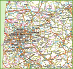 Saarland road map Maps Pinterest