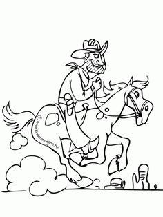 43 beste afbeeldingen cowboys kleurplaten