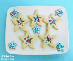 Star Sandwich Sprinkle Cookies...great to make for July 4th & so easy!
