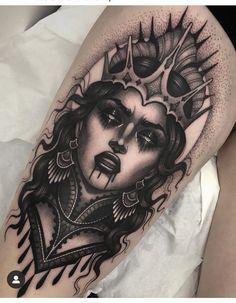 Creepy Tattoos, Tattoos Skull, Black Ink Tattoos, Dope Tattoos, Leg Tattoos, Body Art Tattoos, Sleeve Tattoos, Star Tattoos, Celtic Tattoos