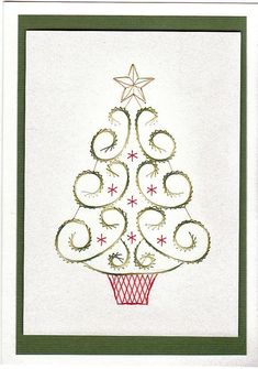 Free Christmas Paper Embroidery Patterns | Free Paper Stitching Cards Patterns | loved this tree pattern the ...