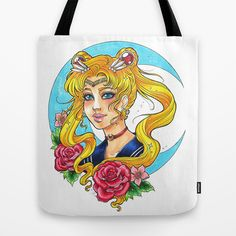 Sailor Moon Tote Bag by Little Lost Forest - $22.00