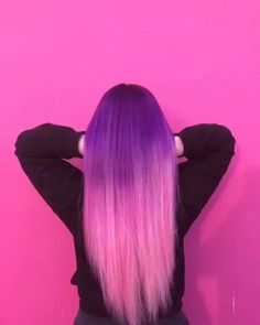 131 perfect purple hair color & hairstyle design ideas – page 1 Pretty Hair Color, Hair Color Purple, Green Hair, Plum Purple, Rose Hair, Mermaid Hair, Hair Colorist, Ombre Hair, Pastel Hair