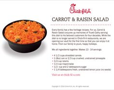 The REAL recipe of Chick-fil-A's Carrot Raisin Salad!