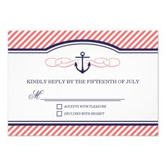 This DealsNavy and Coral Nautical Anchor Wedding RSVP Cardso please read the important details before your purchasing anyway here is the best buy