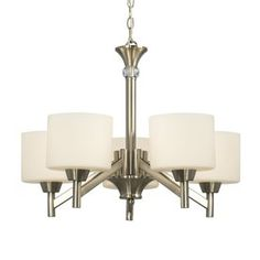 Galaxy Drummond 5-Light Brushed Nickel Chandelier Good Candidate $190 at Lowes