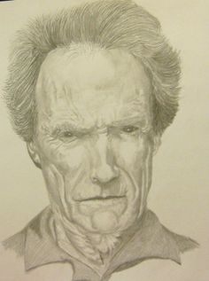 Clint Eastwood pencil drawing.
