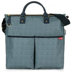 Skip Hop Duo Special Edition Nappy Bag - Blue Pinpoint $109