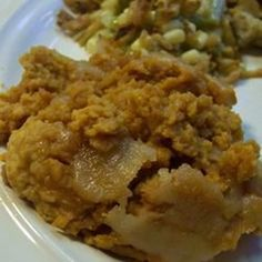 """Slow Cooker Sweet Potato Casserole 
