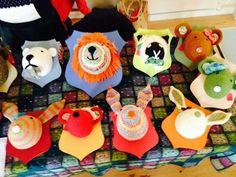 My animal heads at craft fayre