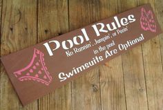 Swimming Pool Rules Sign Pool Decoration Funny by AndTheSignSays, $24.00