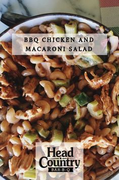 BBQ Chicken Macaroni Salad | How To Make Macaroni And BBQ Chicken Salad | Best BBQ Sauce Recipes Head Country Bbq Sauce Recipe, Best Bbq Sauce Recipe, Sauce Recipes, Chicken Macaroni Salad, Bbq Chicken Salad, Grilled Chicken Recipes, Best Bbq Recipes, Healthy Grilling Recipes, Dishes To Go