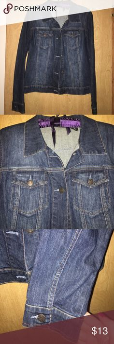 New York & Company Denim Jacket size M Classic style Denim Jacket. Excellent Condition, dark rinse, button closures new york and Company Jackets & Coats Jean Jackets