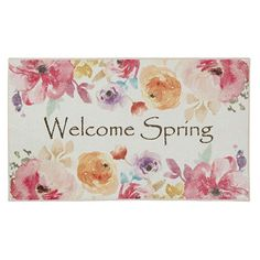 Get the look and durability you've been searching for with this stylishly seasonal Mohawk Home Prismatic Welcome Spring EverStrand rug. In pink. Floral Area Rugs, Pink, Prismatic, Welcome Spring, Outdoor Door Mat, Pink Rug, Scatter Rugs, Mohawk Home, Pink Throws