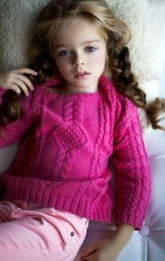 Russian child model Arina Muzyka.