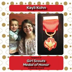 Kayli Kohn from Fairfield has earned Girl Scouts Medal of Honor for coming to the rescue of her two year old brother Hudson. Kayli had just put Hudson in the van when a faulty gear shift caused it to roll backwards before the rest of the family could get in. Acting quickly, Kayli stopped traffic as the van rolled through both lanes and nobody, including Hudson, was injured.