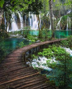 Sound of & Plitvice National Park, Croatia. Photos by , , The post Sound of Plitvice National Park& appeared first on . Beautiful Waterfalls, Beautiful Landscapes, Beautiful Places To Travel, Cool Places To Visit, Wonderful Places, Peaceful Places, Vacation Places, Dream Vacations, Jamaica Vacation