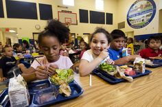 https://flic.kr/p/dbyA6U | 20120907-FNS-LSC-0544 | School lunch staff and students enjoy the new school lunch menu created to meet the new standards at the Yorkshire Elementary School in Manassas, VA on Friday, Sept. 7, 2012. USDA photo by Lance Cheung.