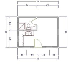 Pool houses outdoor living and google on pinterest for 12x16 kitchen plans