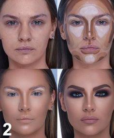 The Most Amazing Beauty Transformations By Makeup Wizard Samer Khouzami Purple Eye Makeup, Edgy Makeup, Makeup For Brown Eyes, Makeup Inspo, Makeup Tips, Beauty Makeup, Face Contouring Makeup, Contouring And Highlighting, Face Contouring Tutorial