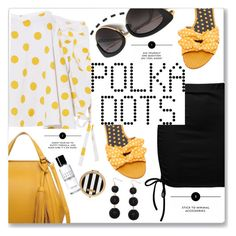 """""""So Dotty: Polka Dots"""" by queenvirgo ❤ liked on Polyvore featuring Caroline Constas, Sans Souci, Tabitha Simmons, Henri Bendel, Bobbi Brown Cosmetics and Humble Chic"""