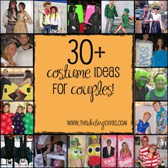 LOTS of costume ideas for couples!! #halloweencostumes #couplescostumes