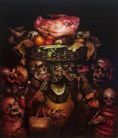 アーティストTerry Taylor(テリー・テイラー)さんは骸骨をモチーフにした絵画作品を多く制作しています。2015年に制作された絵画シリーズ「THE SEVEN DEADLY SINS」は「7つの大罪」が題材となっており、暗い画面から浮き出るように骸骨が「7つの大罪」に沿って描かれています。 描かれている骸骨は乾いた骨の質感ではなく、肌のような生温かさを感じさせる質感で、骸骨とは思えない、とても不気味に描かれています。 このシリーズ以外にも骸骨の肖像画シリーズである「DEFORMED PORTRAITS」や五感をテーマにした「Time Will Tell - The Five Senses」などがあります。 http://www.terrytaylor.com.au/ Terry Taylor(テリー・テイラー)さんは自身を「死の画家」と称しています。骨格標本やいろんなパーツの骨があるアトリエの写真も公開していますので、ぜひご覧ください。 「7つの大罪」をテーマにした作品は、当サイトで多く紹介しておりますので、合わせてどうぞ。…