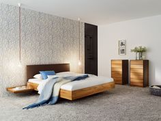 Solid wood double bed RILETTO Riletto Collection by TEAM 7 Natürlich Wohnen | design Kai Stania