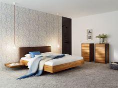 SOLID WOOD DOUBLE BED RILETTO RILETTO COLLECTION BY TEAM 7 NATÜRLICH WOHNEN   DESIGN KAI STANIA