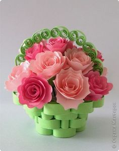 2015 easter decoration my creationidea taken from the internet image detail for paper quilling roses mightylinksfo