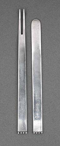 Josef Hoffmann   Teile des Silberbestecks Flache Form  Wien 1904