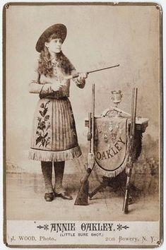 "Annie Oakley.  Sitting Bull called her ""Little Sure Shot""."