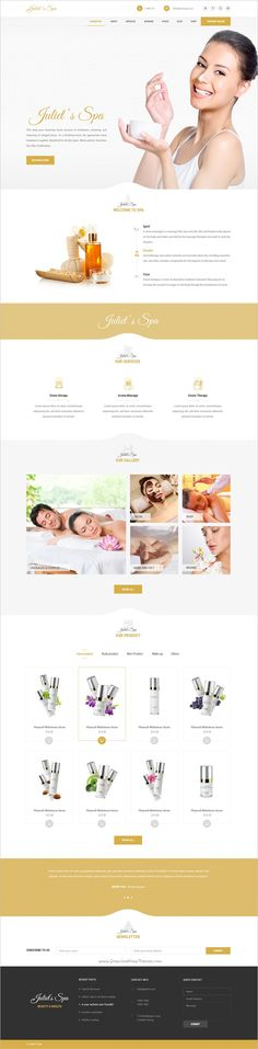 Juliet spa is a visually appealing and aesthetic design #PSD template for #spa, #health and #beauty center websites download now➩ https://themeforest.net/item/juliets-spa-psd-template/19182783?ref=Datasata